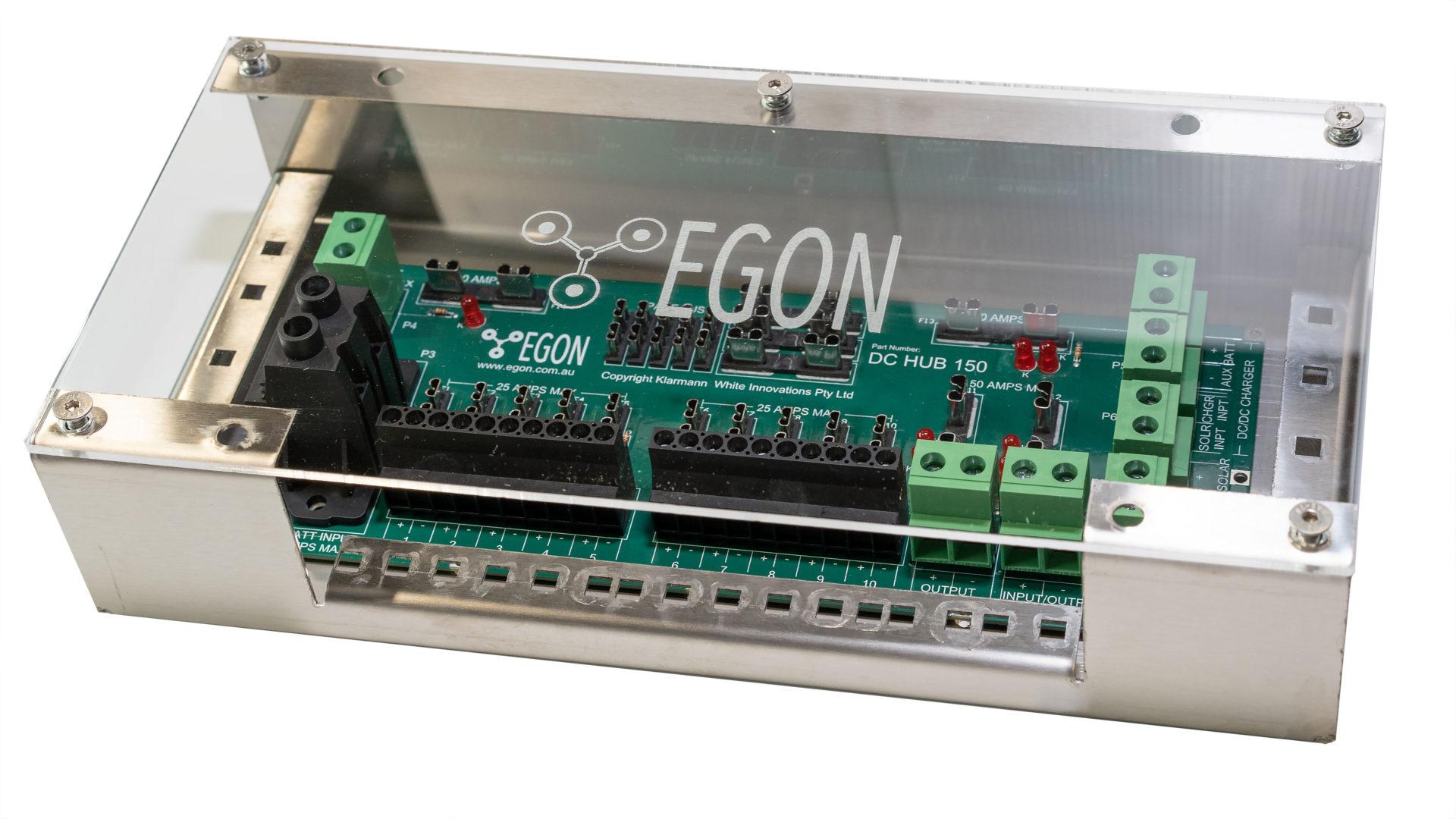 DC-Installations made easy. Unique, problem-solving solution. Egon DC-Hub